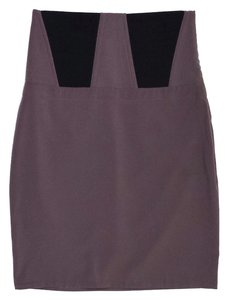 Elizabeth and James Elastic Paneled Skirt Mauve