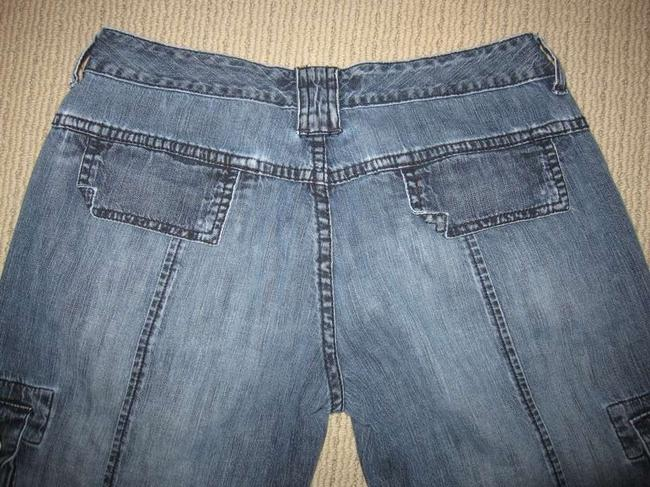 American Eagle Outfitters Drawstring Wash Cargo Jeans-Medium Wash