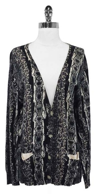 Acne Snake Print Cotton Cardigan