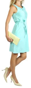 Moschino short dress Aqua Blue Cotton Sleeveless on Tradesy