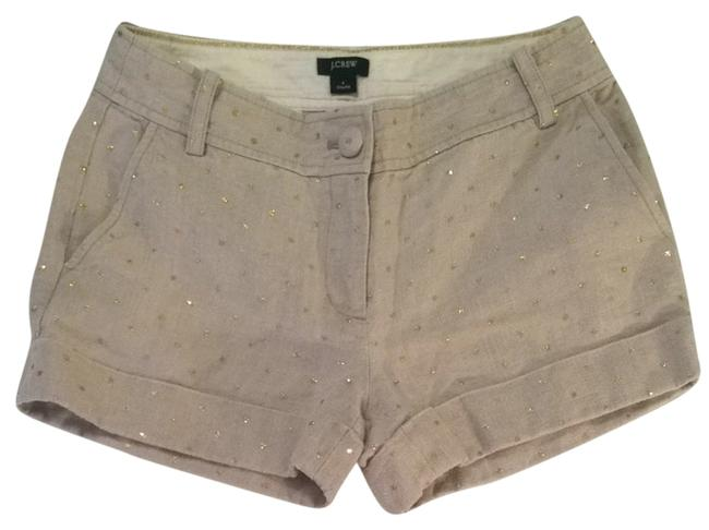 Item - Natural with Gold Polka Dots City Fit Shorts Size 4 (S, 27)