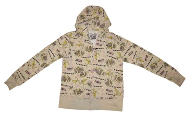 Item - Cream / Pink / B-a-n-a-n-a-s Hoodie Activewear Size 6 (S)
