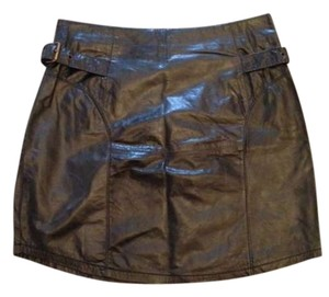 Society for Rational Dress Leather Mini Skirt Black Leather