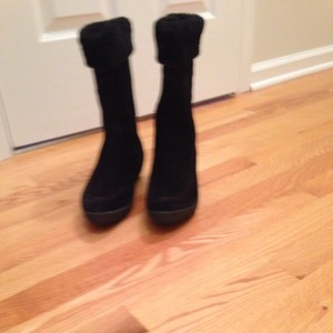 Tsubo Fur Winter Black Boots