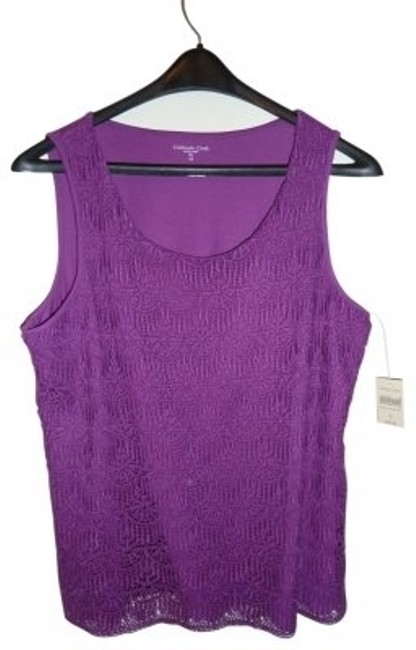 Preload https://item1.tradesy.com/images/coldwater-creek-purple-crochet-lace-tank-topcami-size-16-xl-plus-0x-37110-0-0.jpg?width=400&height=650