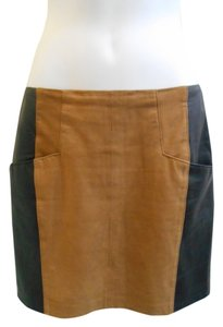 Nanette Lepore Mini Skirt Brown and Black