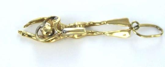 P.J. Salvage 14KT Yellow Gold Pendant LARGE SCUBA DIVER PENDANT