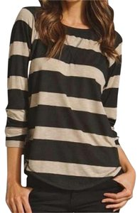 291 Venice Venice Beach Striped Sweatshirt T Shirt Black