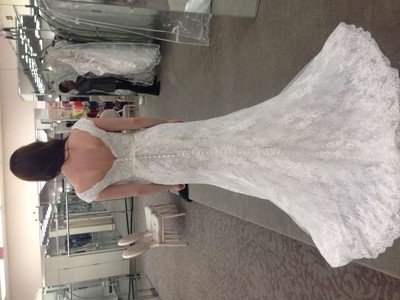 Oleg Cassini Lace Trumpet Dress Wedding Dress