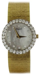 Piaget Piaget Lady's Yellow Gold Mother of Pearl and Diamond Quartz Wristwatch