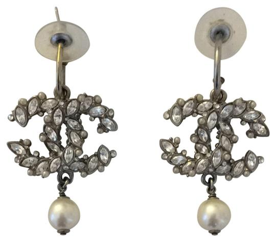Chanel Chanel Crystal And Pearl Earring