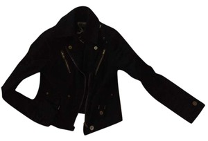Roma Premium Collection Gold Cinched Black Womens Jean Jacket