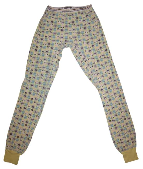 Item - Yellow / Baby Blue / Pink / Ticktock Thermal Pants Size 6 (S, 28)