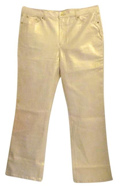 Preload https://item5.tradesy.com/images/dg2-by-diane-gilman-champagne-glossy-average-boot-cut-pants-size-16-xl-plus-0x-3714274-0-2.jpg?width=400&height=650