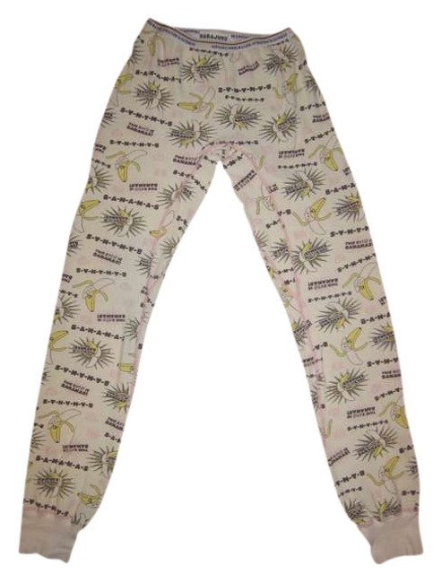 Item - Cream / Pink / Yellow / B-a-n-a-n-a-s Thermal Pants Size 6 (S, 28)