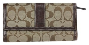 Coach * Coach Signature C Wallet - Brown/Khaki