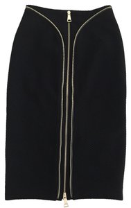 bebe Zip Detail Pencil Skirt Black
