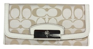 Coach * Kristin Signature Satin Slim Envelope Wallet F48981