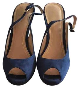 Cole Haan Blue Suede Pumps
