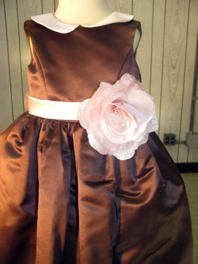 Sable/Pink Fashion-style 1059 Flowergirl Dress-size 4-sable/ (Mr-180)