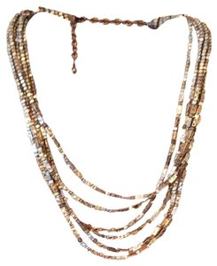 Chico's Gold Multi strand Necklace