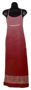 Pink and Red Maxi Dress by American Eagle Outfitters Lightweight Maxi