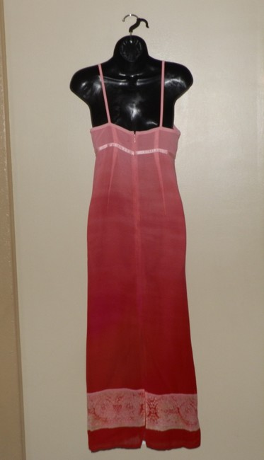Pink and Red Maxi Dress by American Eagle Outfitters Lightweight Maxi Sundress Spaghetti Straps