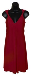 B. Darlin short dress Red Sleeveless Cocktail V-neck Evening on Tradesy