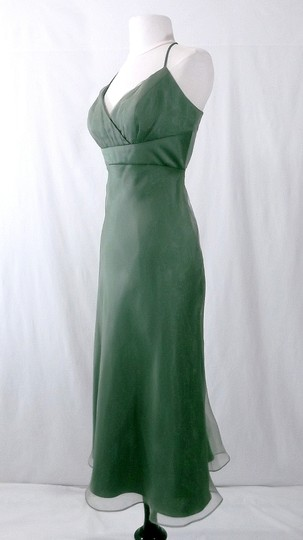 Alfred Angelo Clover Organza / Satin Style 6556 Casual Bridesmaid/Mob Dress Size 10 (M) Image 2