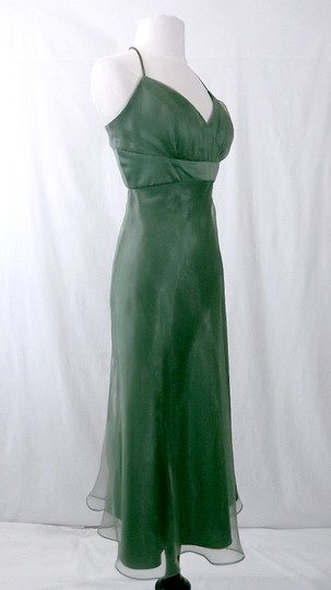 Alfred Angelo Clover Organza / Satin Style 6556 Casual Bridesmaid/Mob Dress Size 10 (M) Image 4