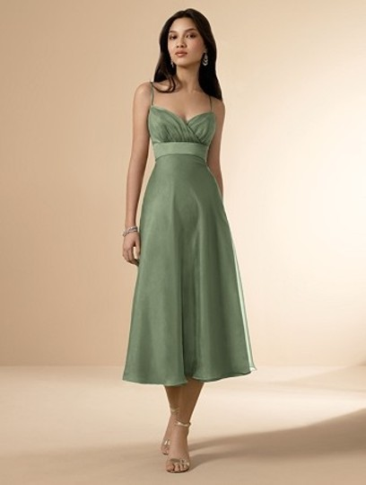 Alfred Angelo Clover Organza / Satin Style 6556 Casual Bridesmaid/Mob Dress Size 10 (M)