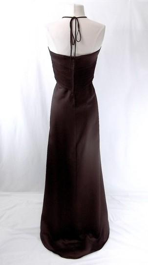 Alfred Angelo Espresso Satin / Chiffon 6498 Formal Bridesmaid/Mob Dress Size 10 (M)