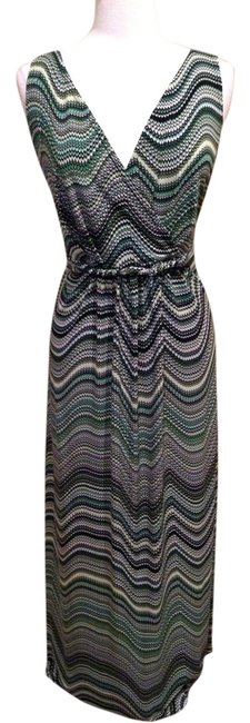 Black Green Multi Maxi Dress by New Directions Maxi Plus Size 3x