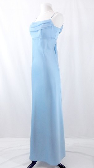 Alfred Angelo Baby Blue Satin / Chiffon Style 6308 Formal Bridesmaid/Mob Dress Size 6 (S)