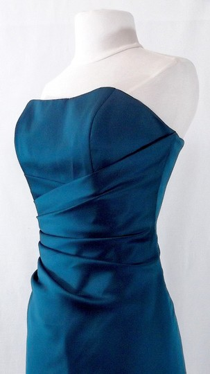 Alfred Angelo Tealness Satin Style 6493 Formal Bridesmaid/Mob Dress Size 6 (S)