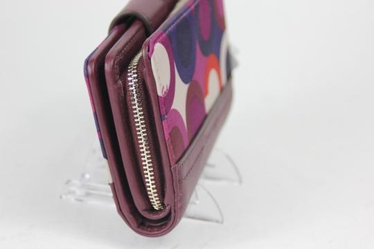 Coach * Coach Park OP Art Wallet F50435 - Bordeaux multi Image 1