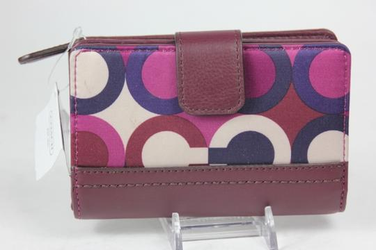 Coach * Coach Park OP Art Wallet F50435 - Bordeaux multi Image 3