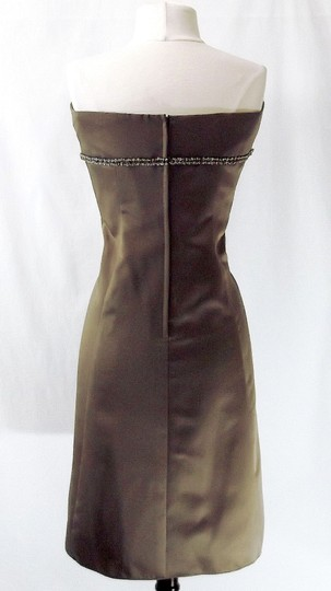 Alfred Angelo Mocha Satin Style 7048 Casual Dress Size 12 (L)