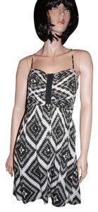 Billabong short dress black and white Tribal Summer on Tradesy