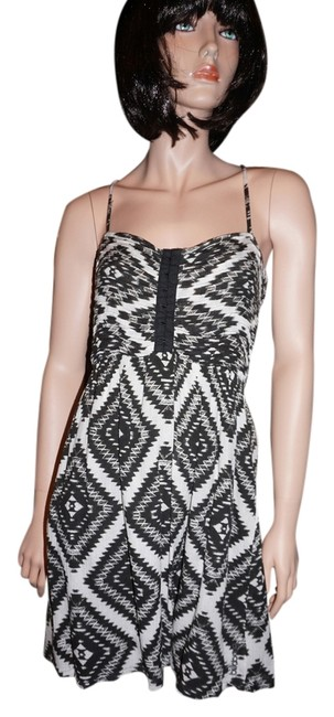 Billabong short dress black and white Tribal Summer Crisscross Strap on Tradesy