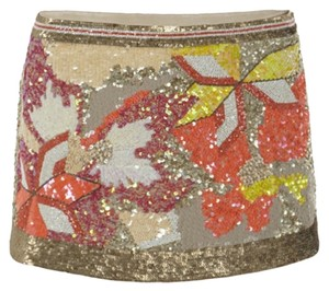 AllSaints Mini Skirt Gold