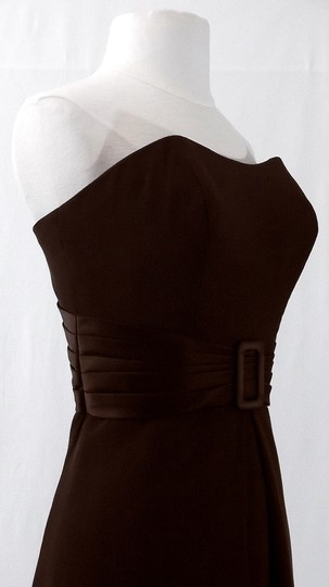 Alfred Angelo Chocolate Chiffon / Satin Style 6547 Casual Bridesmaid/Mob Dress Size 8 (M)