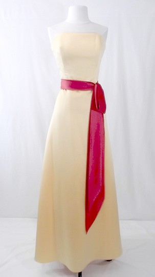 Alfred Angelo Sunshine / Persimmon Satin Style 6540 Formal Bridesmaid/Mob Dress Size 12 (L) Image 0
