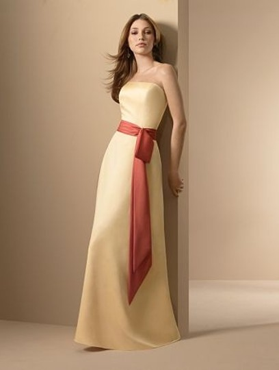 Alfred Angelo Sunshine / Persimmon Satin Style 6540 Formal Bridesmaid/Mob Dress Size 12 (L) Image 10