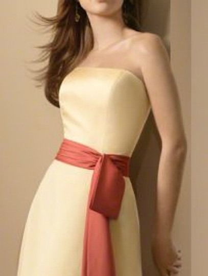 Alfred Angelo Sunshine / Persimmon Satin Style 6540 Formal Bridesmaid/Mob Dress Size 12 (L) Image 11