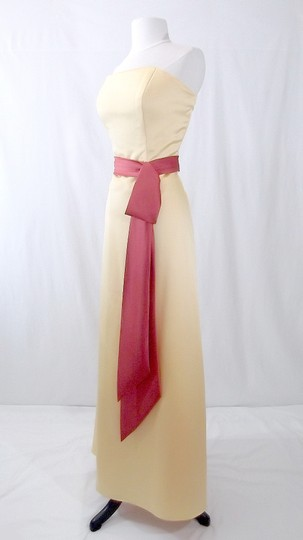 Alfred Angelo Sunshine / Persimmon Satin Style 6540 Formal Bridesmaid/Mob Dress Size 12 (L) Image 4