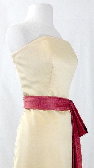 Alfred Angelo Sunshine / Persimmon Satin Style 6540 Formal Bridesmaid/Mob Dress Size 12 (L) Image 7