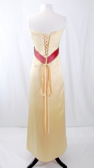 Alfred Angelo Sunshine / Persimmon Satin Style 6540 Formal Bridesmaid/Mob Dress Size 12 (L)