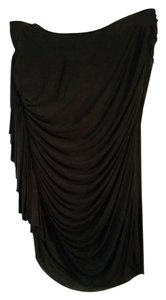 Alexander Wang Tango Draped Ruffle Assymetrical Skirt Black