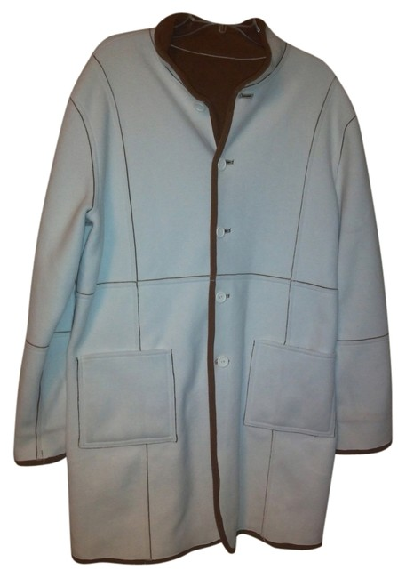 Preload https://item3.tradesy.com/images/susan-graver-white-and-brown-classic-style-pea-coat-size-16-xl-plus-0x-3716242-0-0.jpg?width=400&height=650